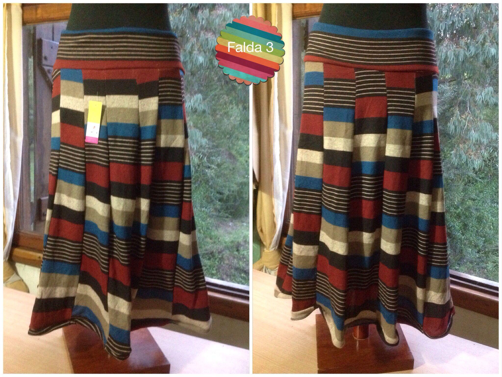 14e752630 Falda de lanilla rayada | lanilla | Faldas de lana, Lana y Faldas