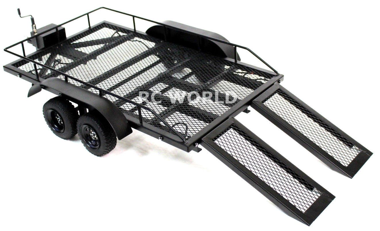 RC Scale Accessories All METAL DUAL AXLE TRAILER W/ Leaf ...