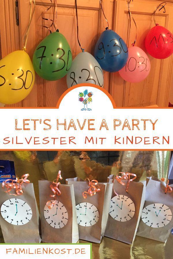 Silvester mit Kindern feiern: Ideen für zu Hause