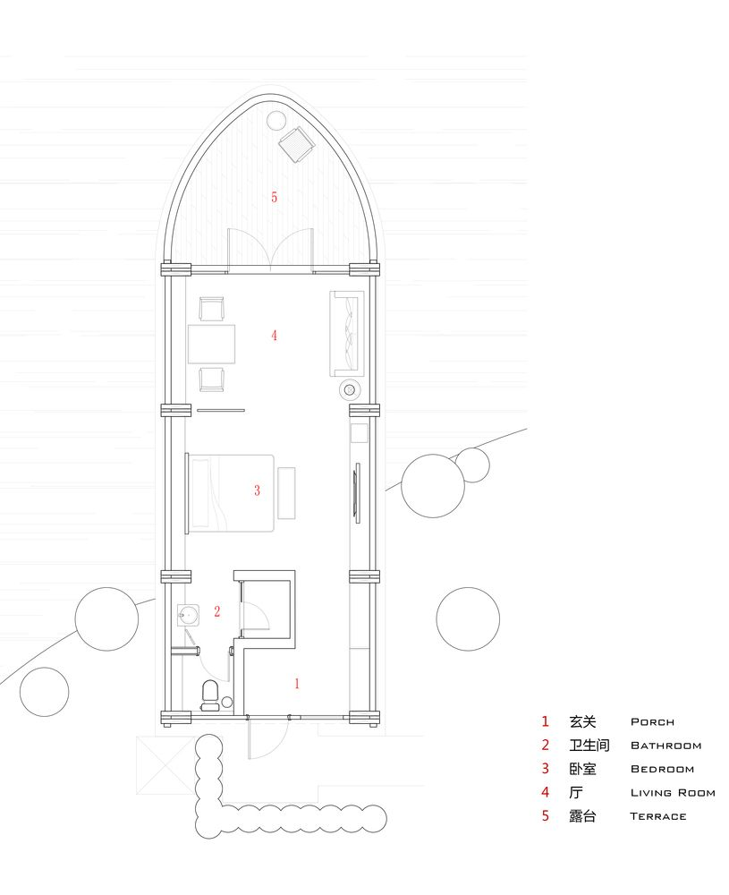 Gallery of Boat Rooms on the Fuchun River / The Design