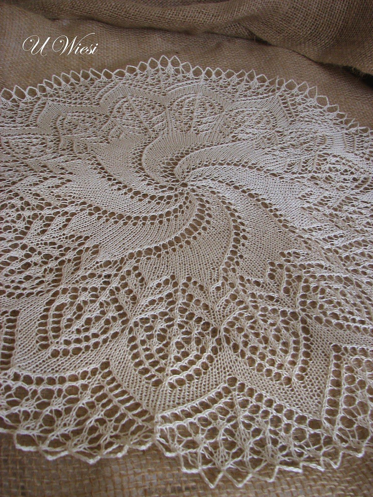 knitted doily | U Wiesi - tatting - knitting - frywolitki i druty ...