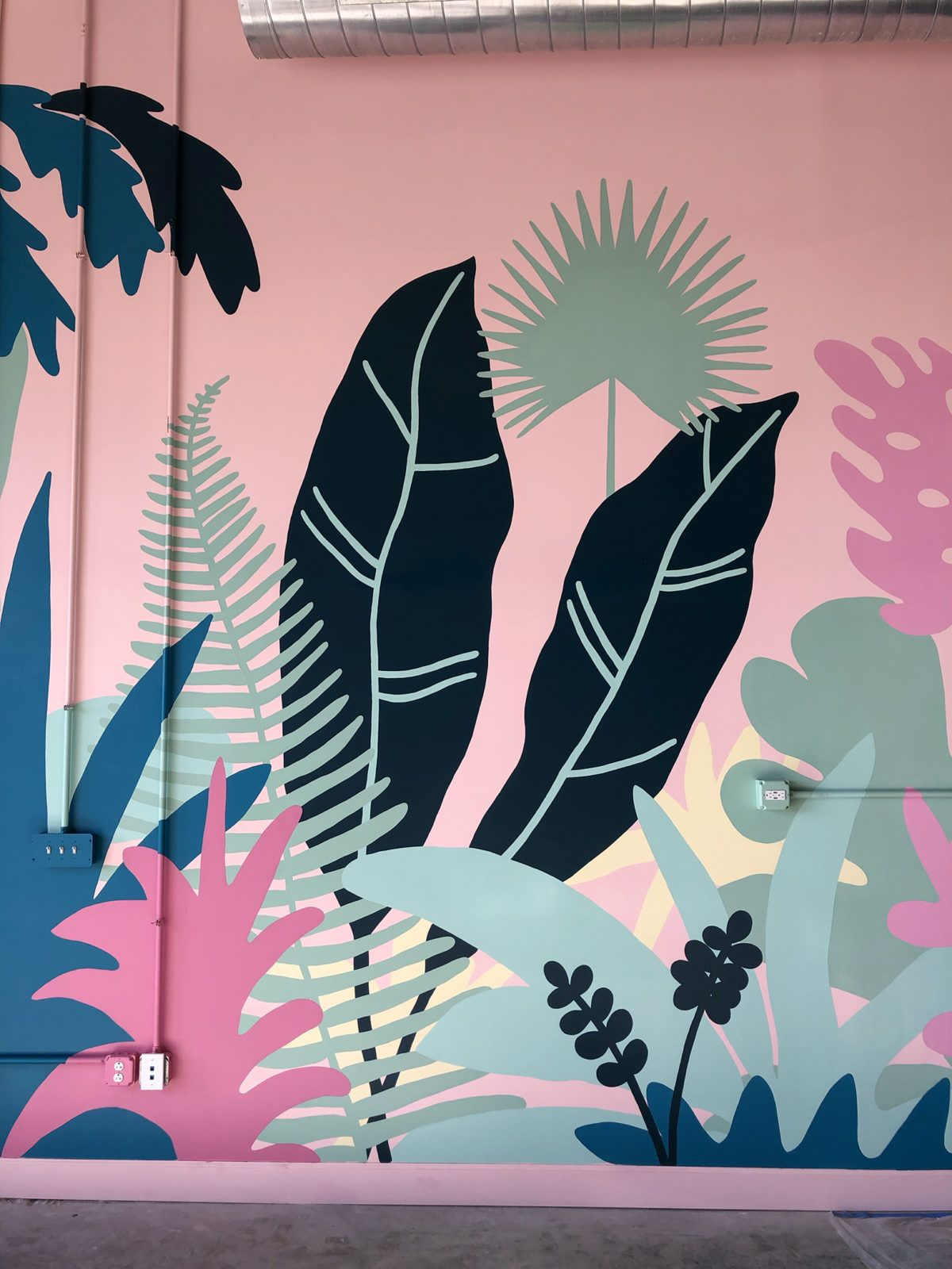 Coconut Club Mural Process — Meg Biram