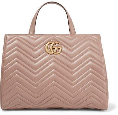 5c7fff2dc248 Gucci - Gg Marmont Quilted Leather Tote - Taupe #gucci #ShopStyle  #MyShopStyle click link for more information