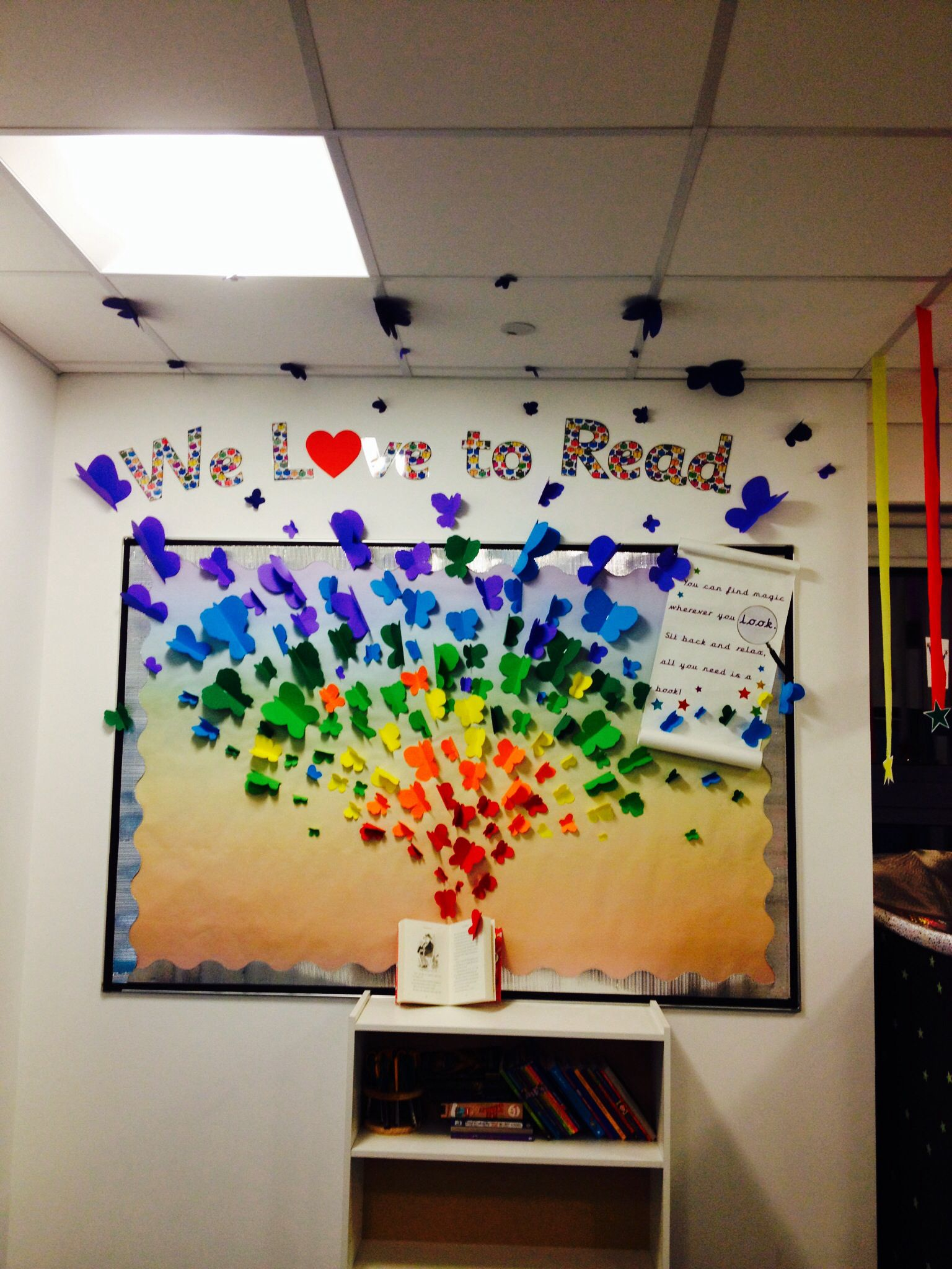 Classroom Ideas Primary ~ Reading display for bookclub readingforpleasure