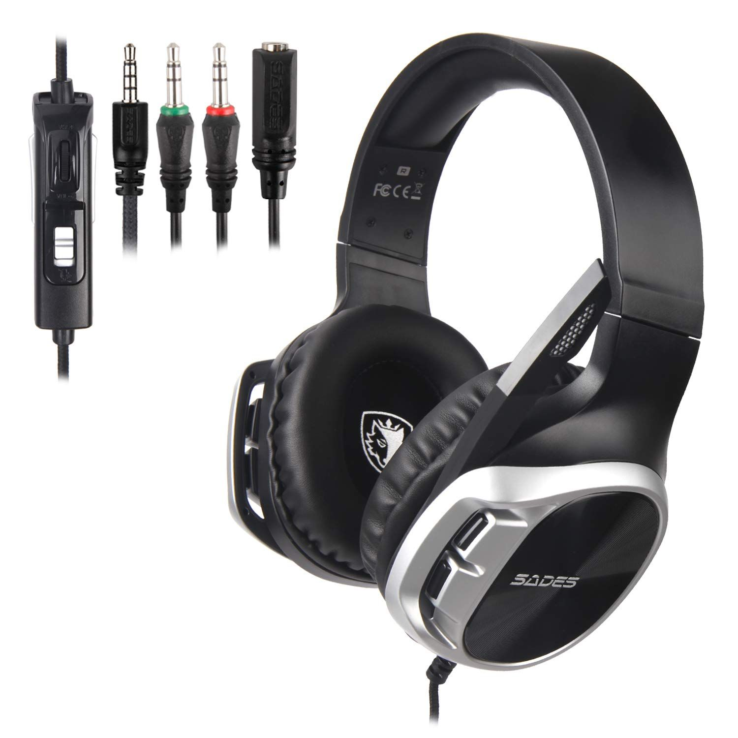 860190d2102 SADES R17 Stereo 3.5mm Wired Gaming Headset Xbox One / PS4 / PC / Cellphones
