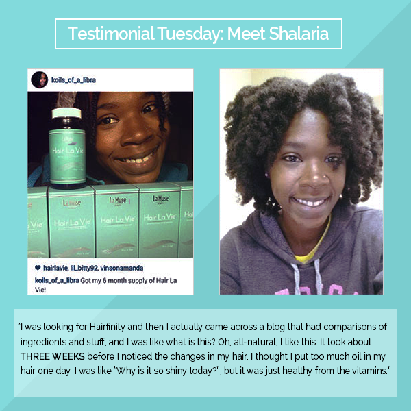 Shalaria Is Stocked With Her Hair La Vie Results Naturalhair