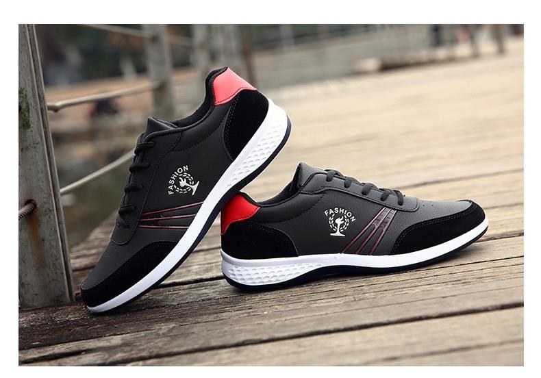 81935df00a2a7 COP 89.000 Zapatos tenis de microfibra con cordones y suela alta para hombre  y mu