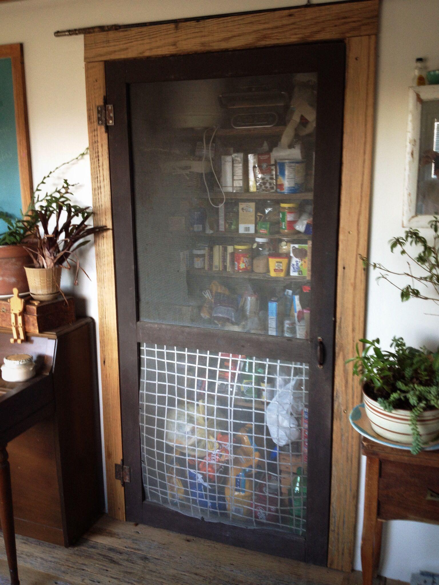 Vintage Screen Door Pantry Reclaimed Oak Barn Wood Trim Victorian