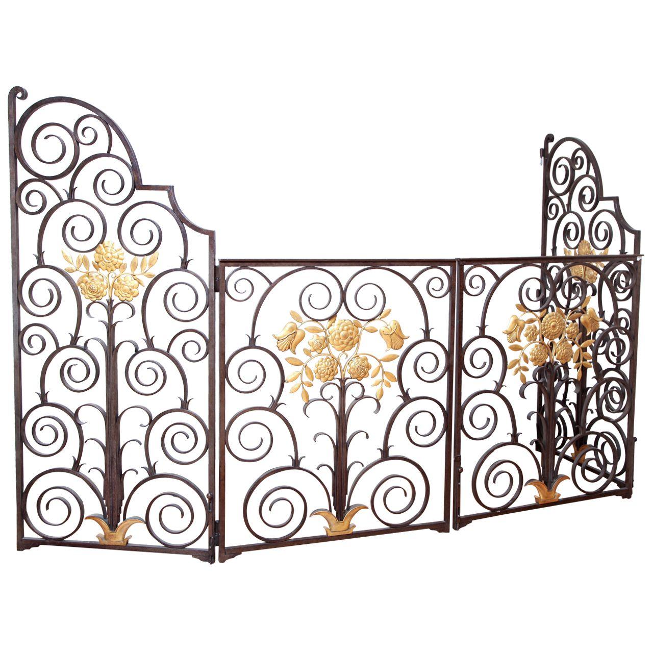 French s wrought iron screengate garden doors wrought iron