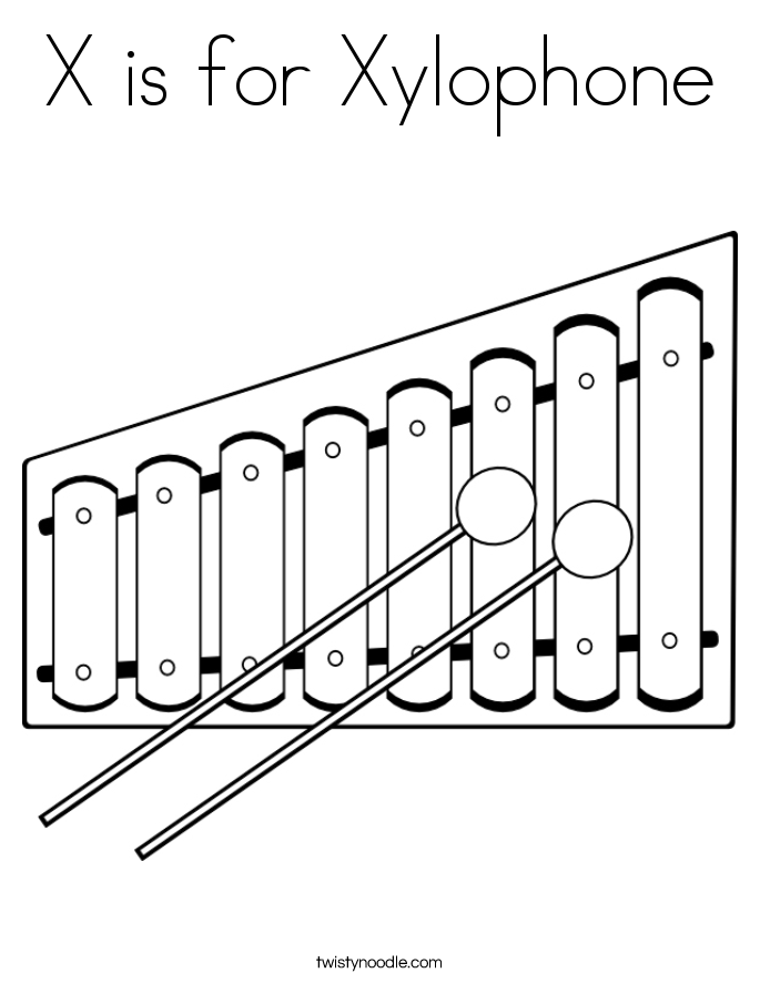 Xylophone Coloring Sheet Google Search Xylophone Art Block Kids Xylophone