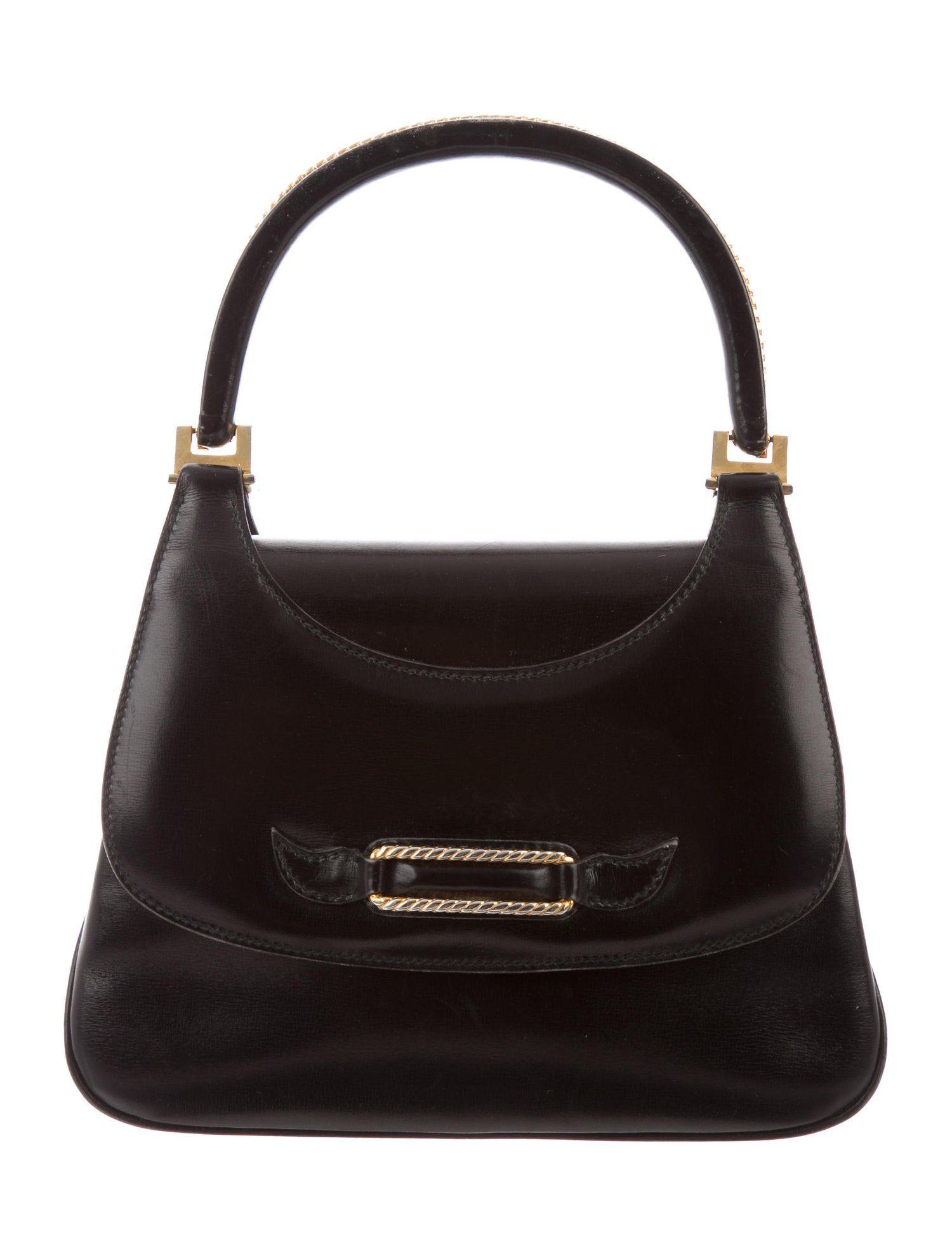 2ff18a6af1a Gucci Vintage Handle Bag - Handbags - GUC258287