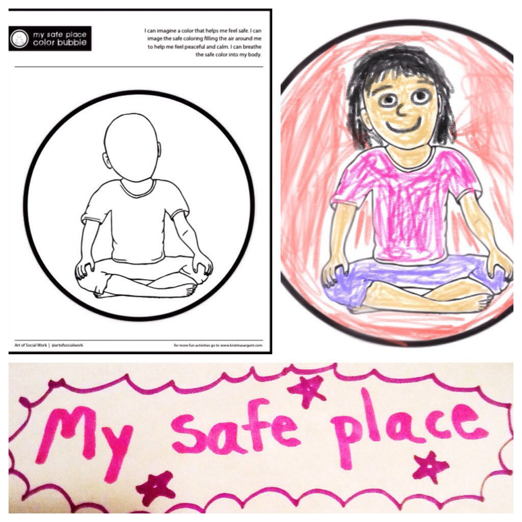 Counseling blog: imagine a safe color and breath it in.  Guided imagery/ DBT