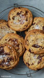 The BEST Brown Butter Choc Chip Cookies
