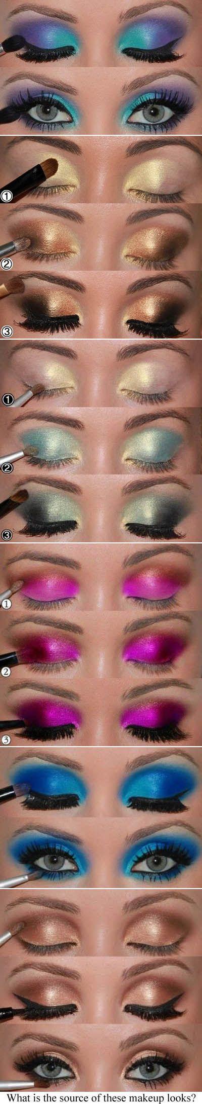 Varie sfumature occhi