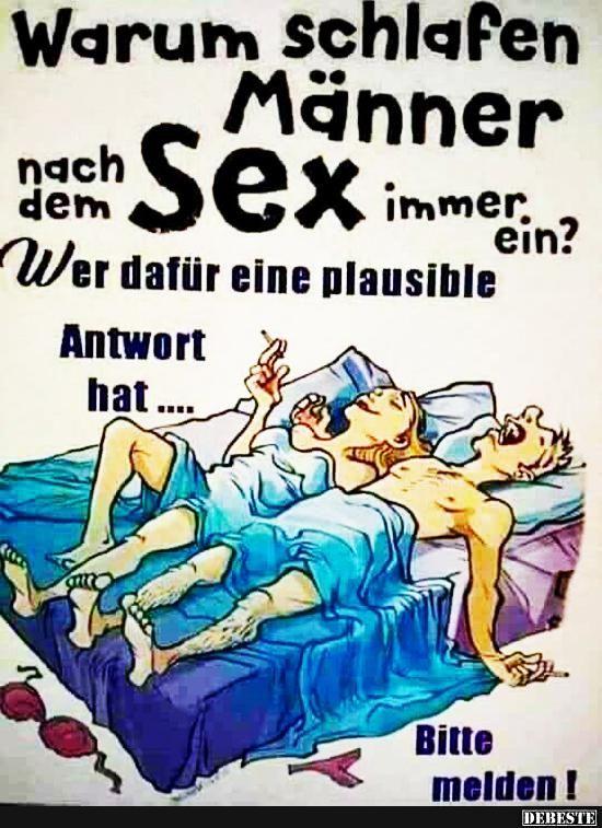 Warum schlafen Männer nach dem  immer ein? | Lustige