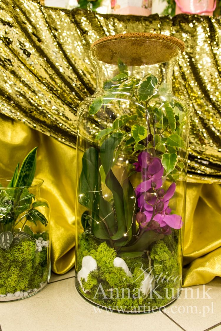 Zaskocz Swoja Bliska Osobe Badz Oryginalny Kup Ekskluzywny Las Sloiku Ze Storczykiem Wysoka Jakosc Zawsze Swieze Kwiaty Kazdy Koc Glass Vase Vase Decor