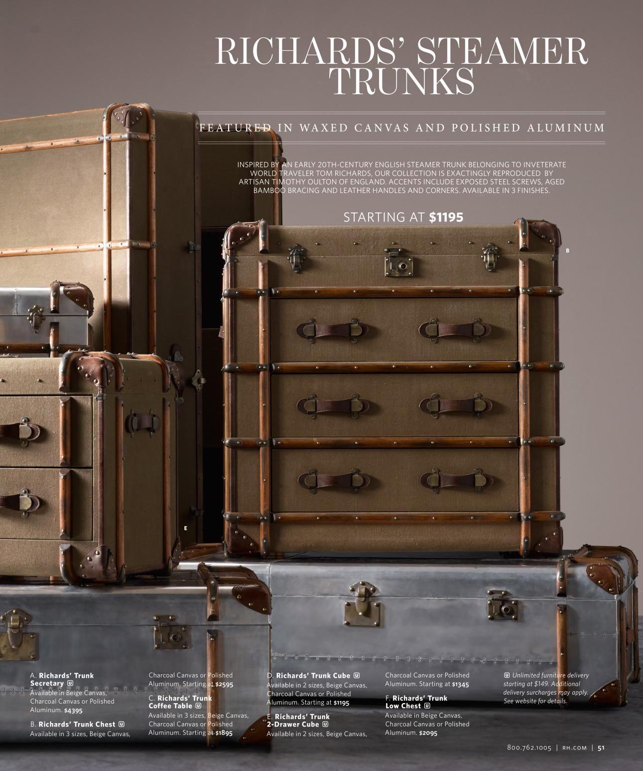 steamer trunks living room Pinterest