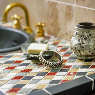 Vinegar On Marble Counter