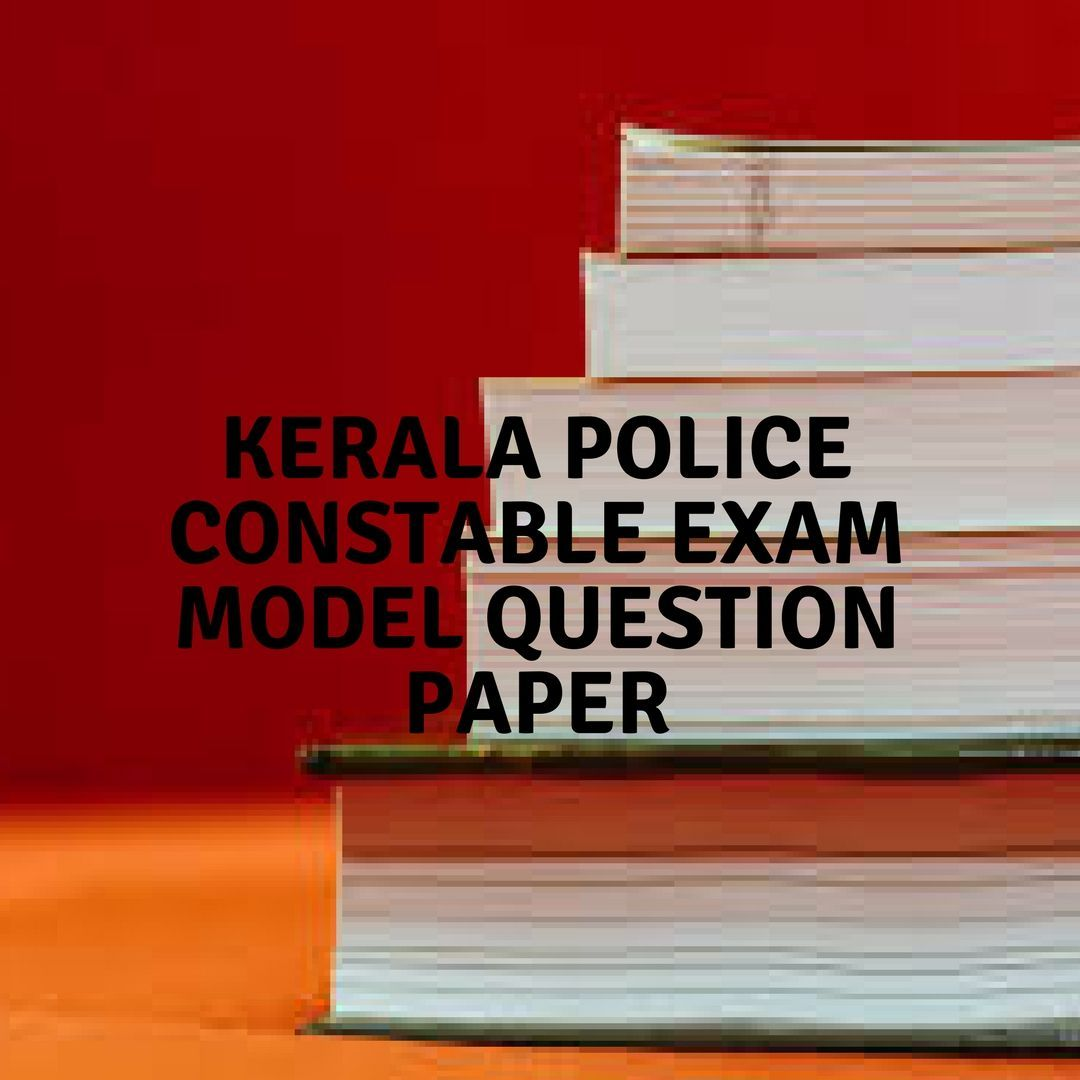 Kerala Police Constable Exam Model Question Paper The Synonym Of