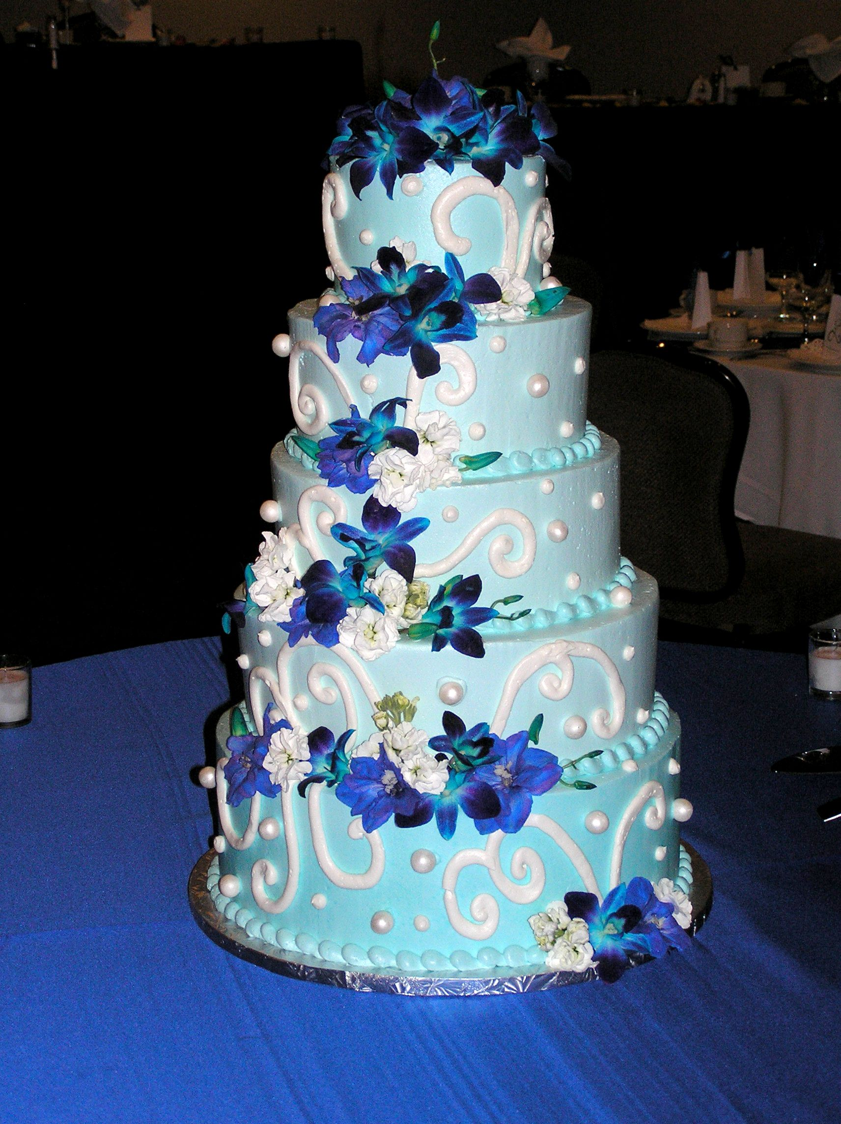 Wedding decorations royal blue  cake boss wedding cakes  Michigan Wedding Cake Design Cake Bakery