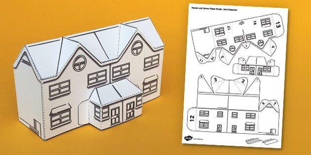 3d house paper model