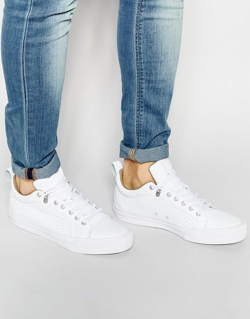 0504c8487f6d Converse+Chuck+Taylor+All+Star+Fulton+Leather+Trainers+In+White+151048C