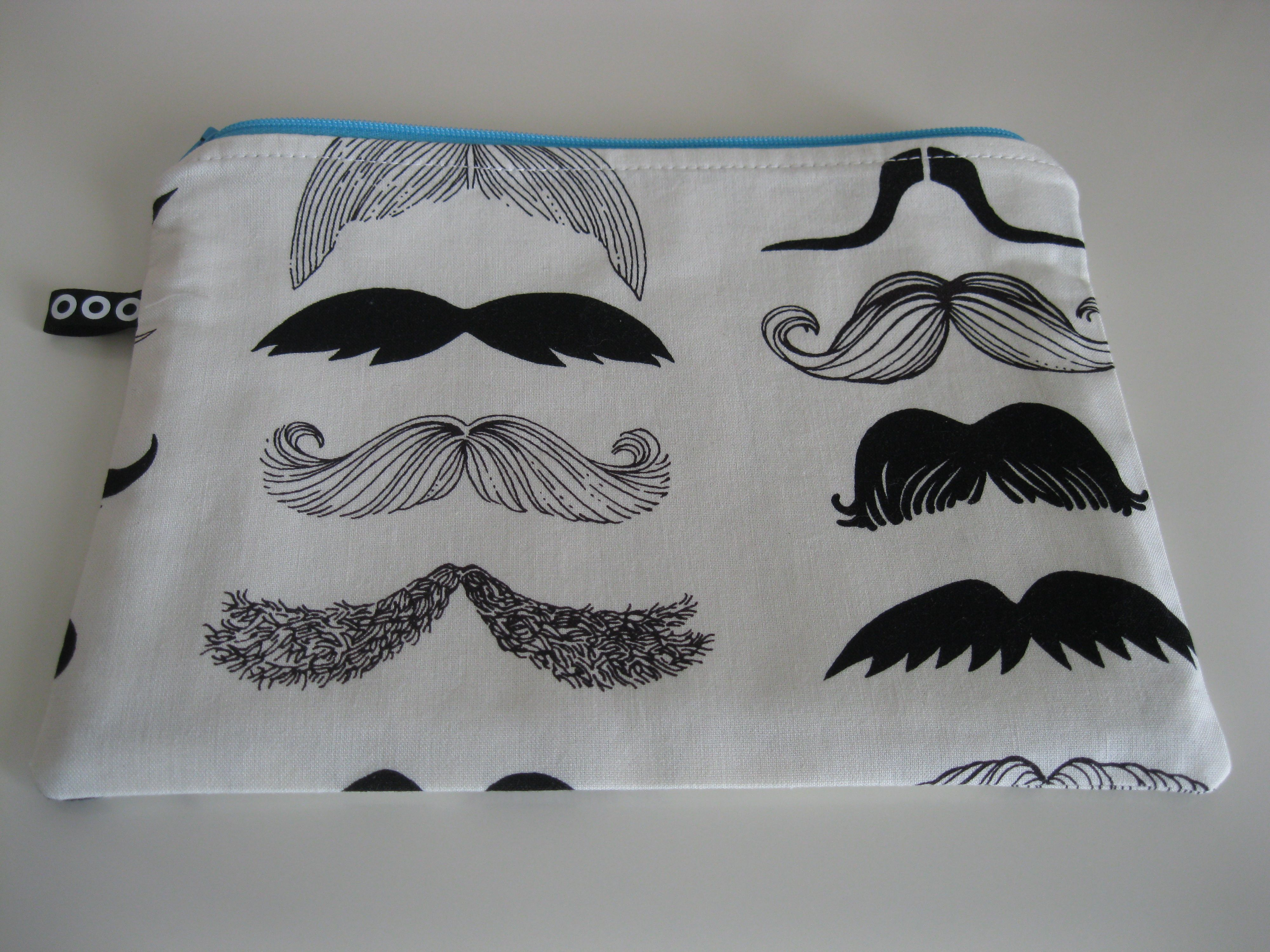 Mybotang fabric scrap series cards -  Show Me Your Stache Zipper Pouch Https Www Etsy