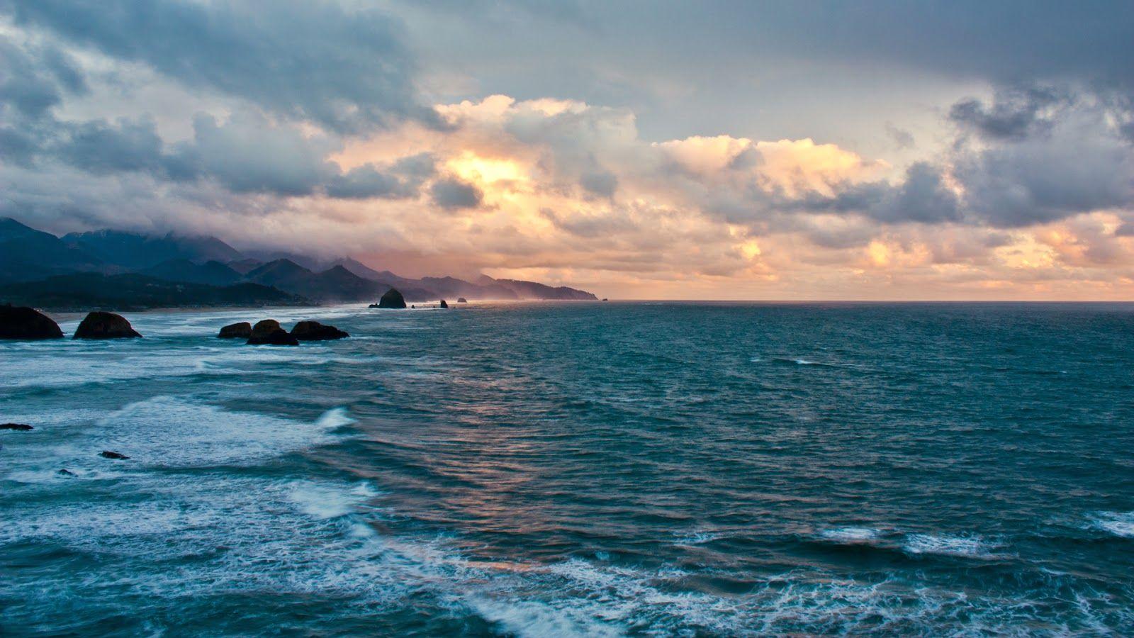 Desktop Nature Oceans Ocean Wallpaper Sunset Wallpaper Ocean Scenes