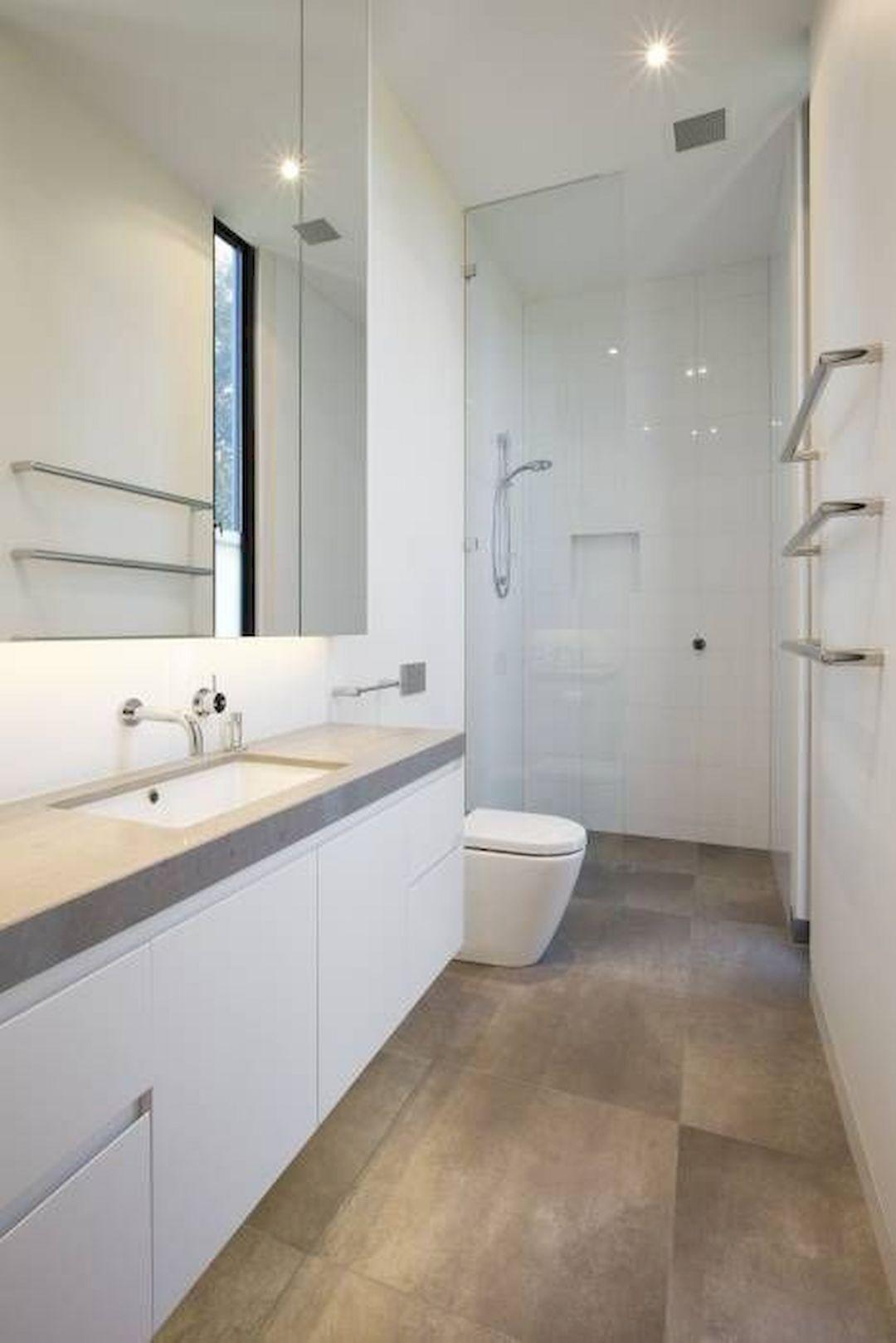 wonderful long narrow bathroom ideas 040  modern small