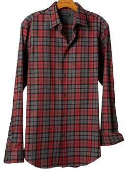 #BananaRepublic | Holiday 2012 | #BRGifts | Luxe brushed twill bold plaid shirt