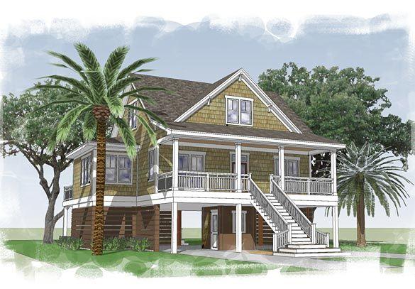 Capers Island Coastal Home Plans 1683 heated sf 3bd25 ba l