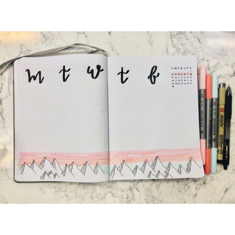 Weekly bullet journal, week of September, September bullet journal #septemberbulletjournalcover