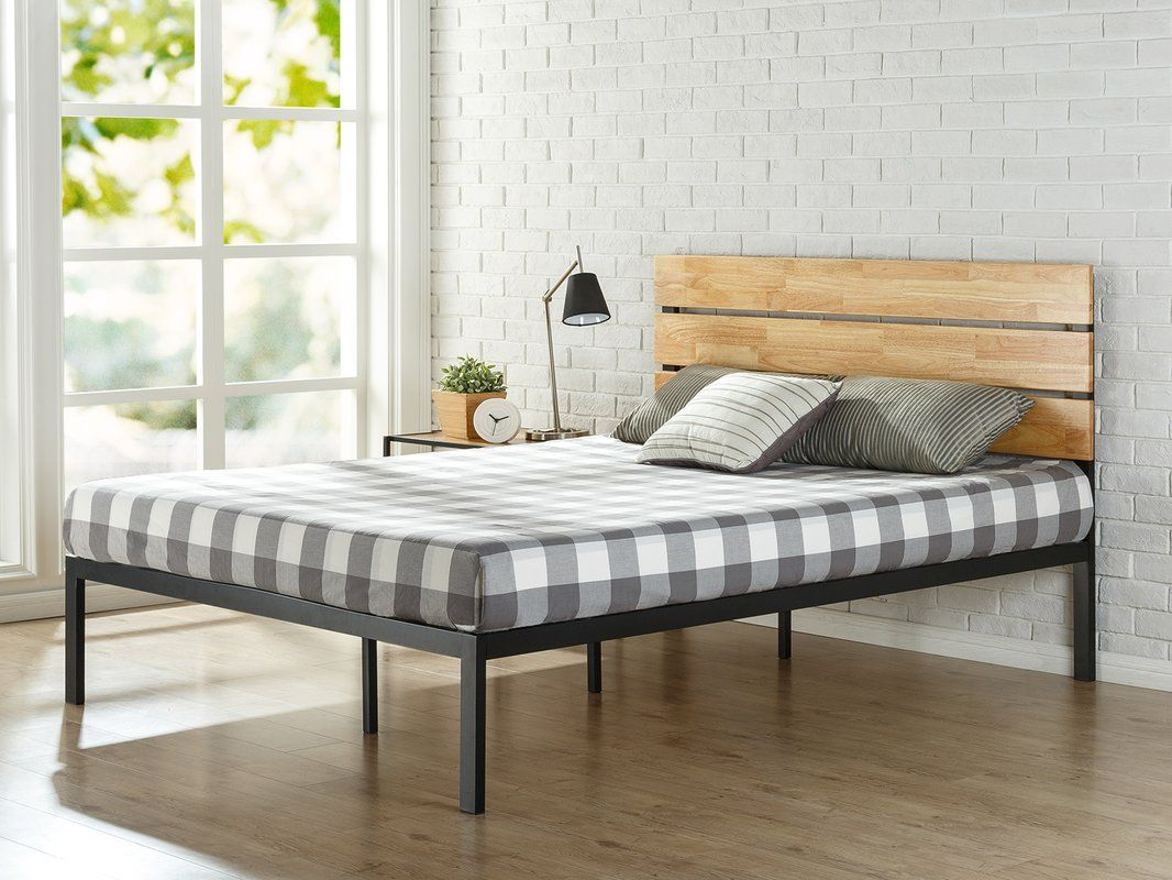Metal/Wood Platform Bed