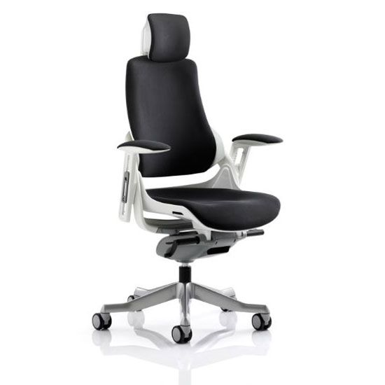 zeta desk chair tulle covers for wedding executive ergonomic office in black fabric