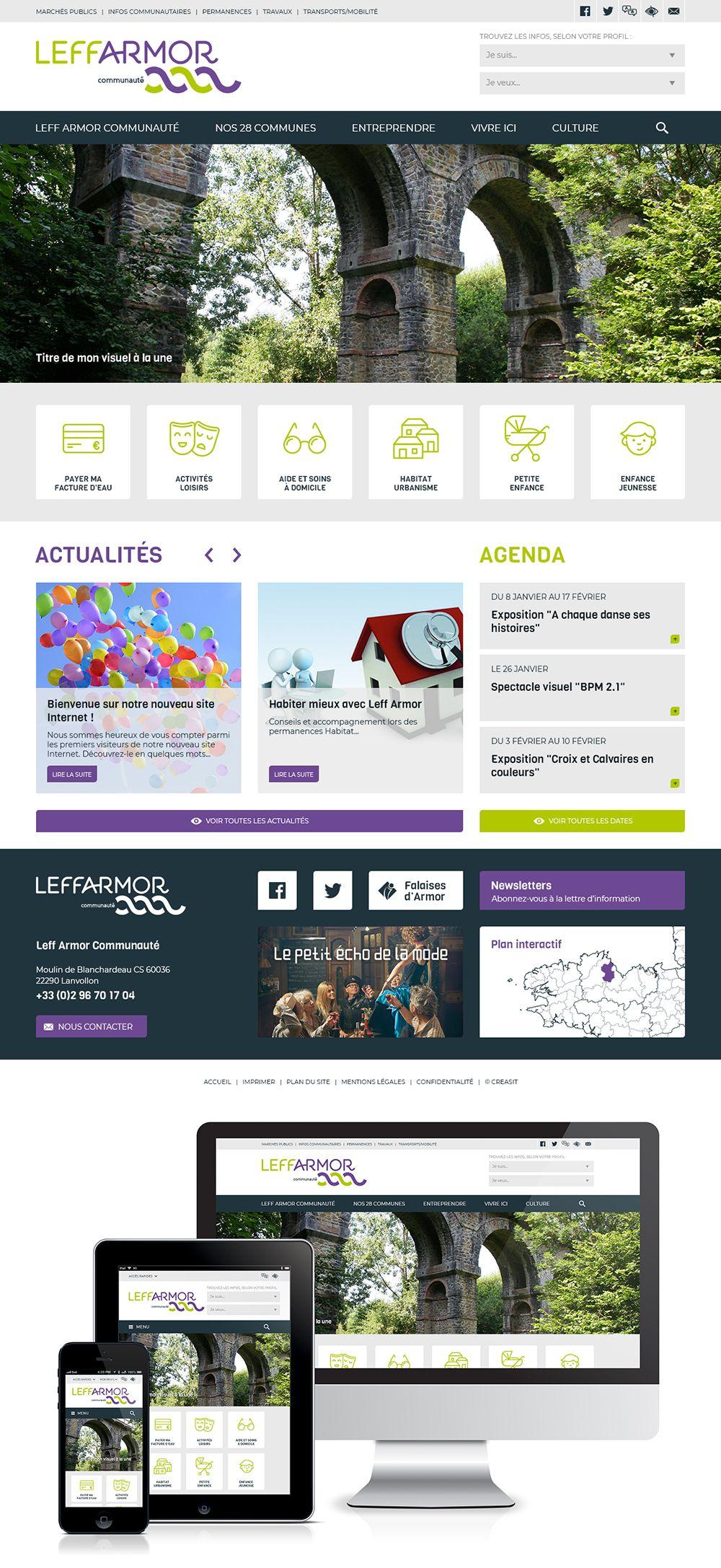 Createur De Site Internet création du site web de leff armor communauté (22) : #web