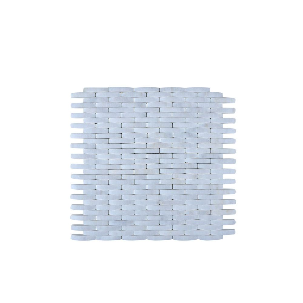 Small White Stone Mesh Mounted Wall Tile (Pack of 11) by Legion ...