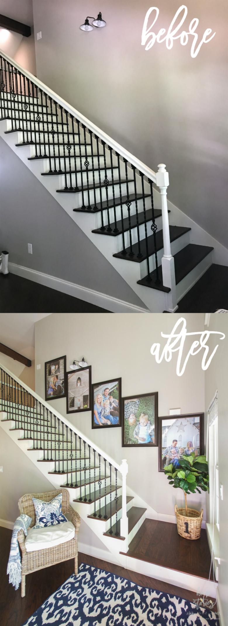 How to Create a Stairway Picture Wall   Wandgestaltung, Einrichten ...