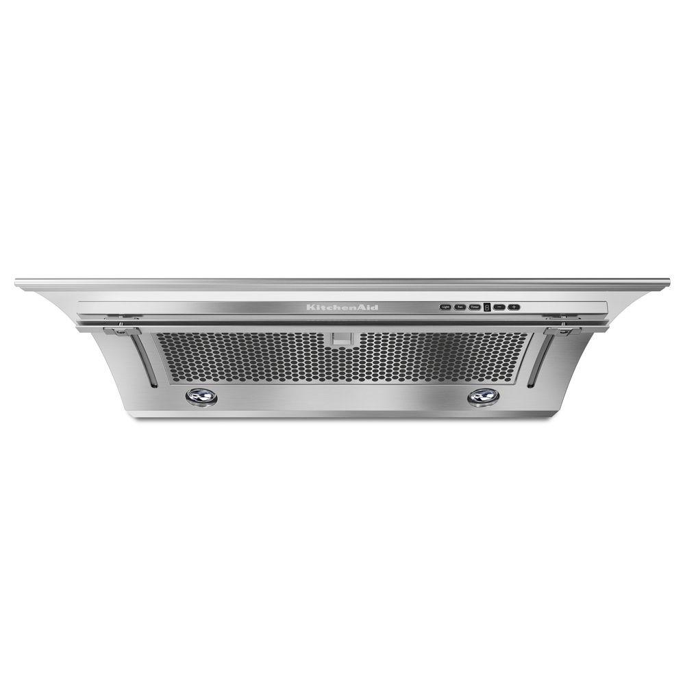 Kitchenaid 30 In Convertible Slide Out Range Hood In Stainless Steel Kxu2830yss The Home Depot Range Hood Stainless Range Hood Ventilation Hood