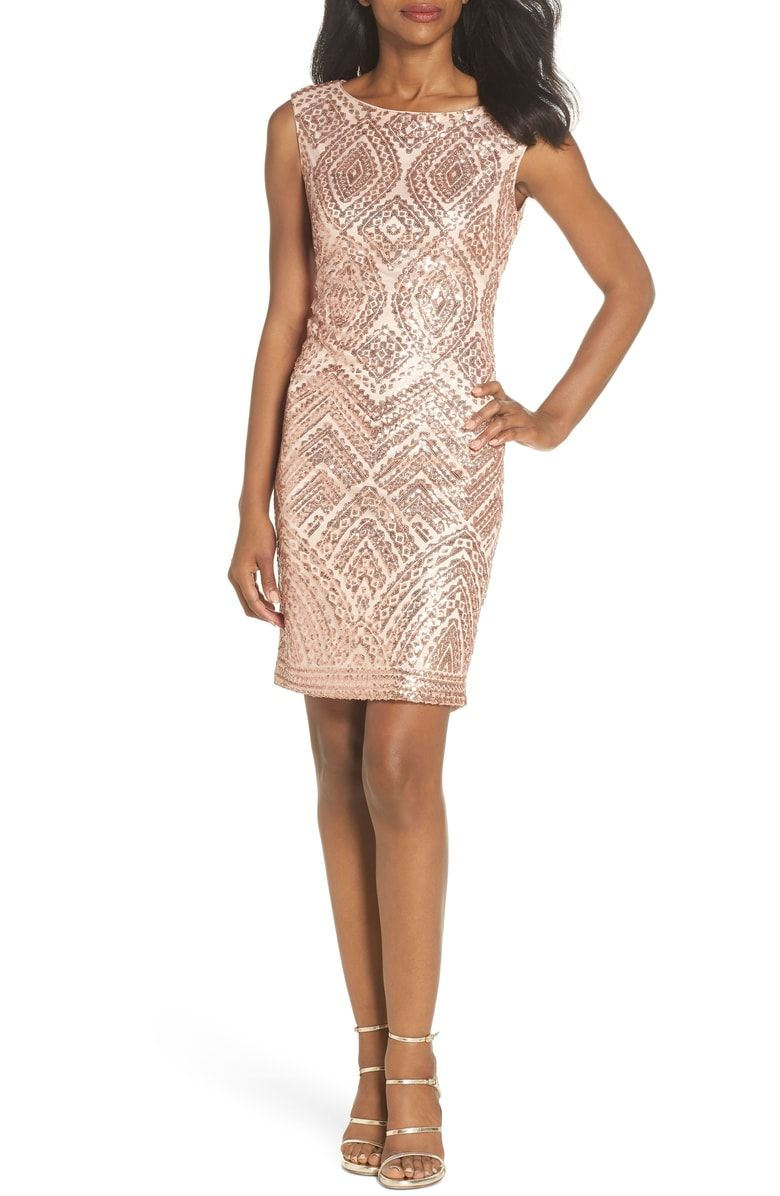 Free Shipping And Returns On Vince Camuto Sequin Embellished Cocktail Dress At Nordstrom Com Sh Trendy Cocktail Dresses Cocktail Dresses Online Cocktail Dress [ 1196 x 780 Pixel ]
