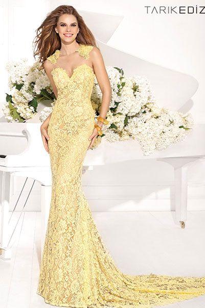 Длинные платья желтого цвета