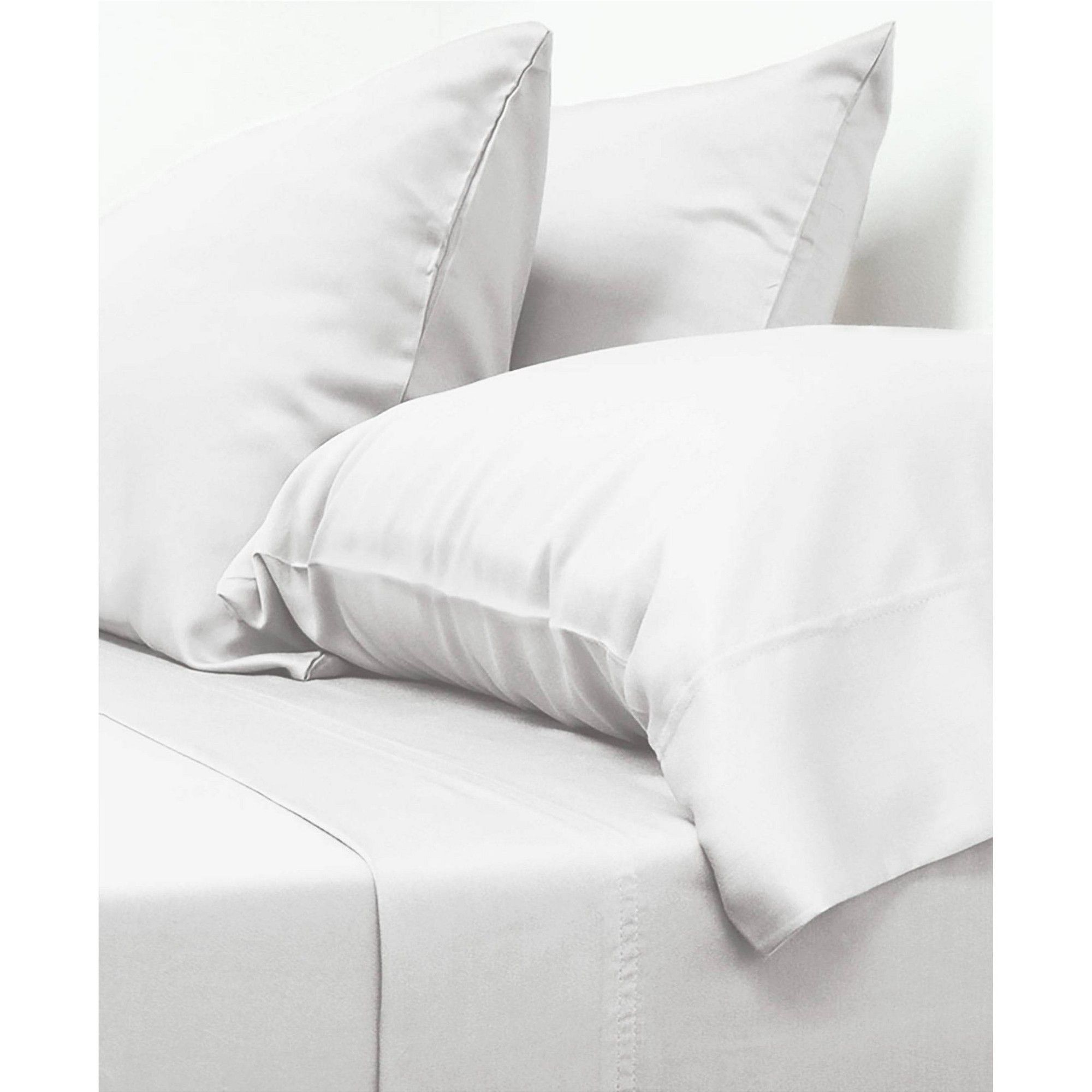California King 100 Viscose From Bamboo Classic Sheet Set White