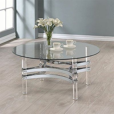 Round Glass Top Coffee Table | Brians Living Room Furniture