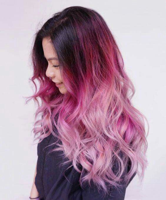 dark to pastel pink ombre hair hair styling amp color