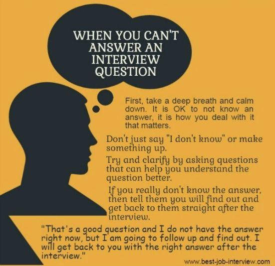 When you donu0027t know the answer in an interview Job Search, Job - best interview answers