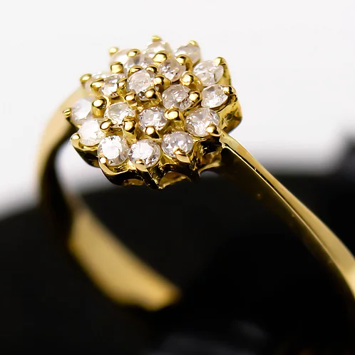 خاتم ألماس ديانا عيار 18 Maryam Co Diamond Earrings Earrings Jewelry