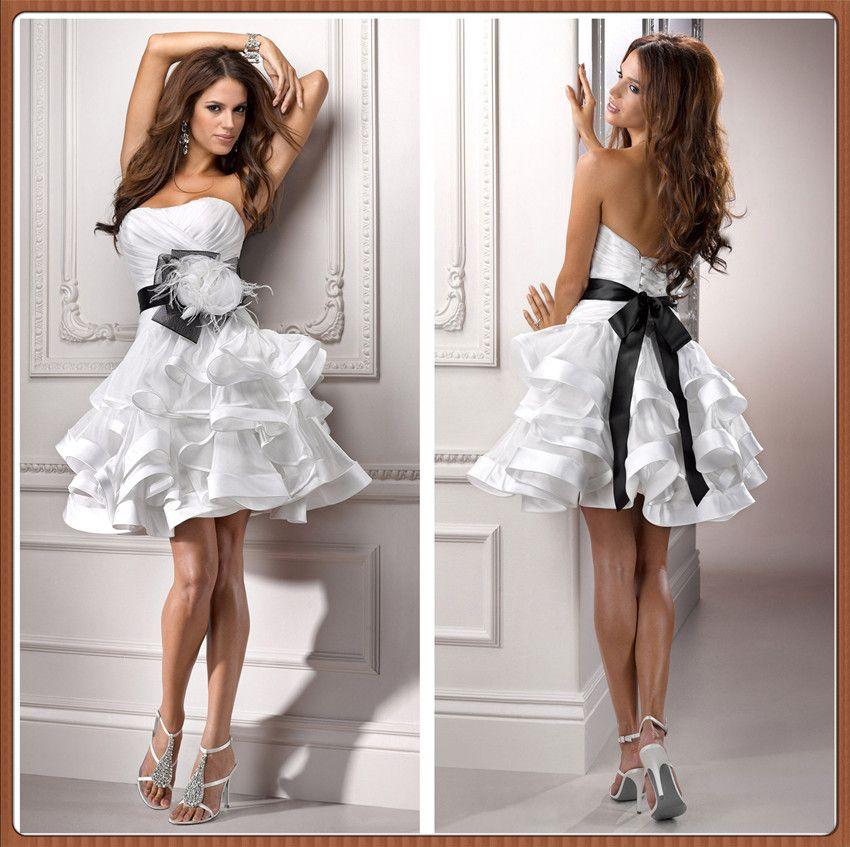 sexy short wedding dresses xz620 large