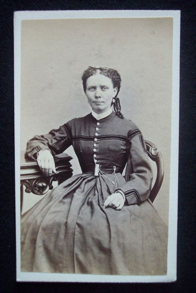 American Civil War era CDV 1860's photograph & tax stamp Lawrence Massachusetts #dressesfromthesouthernbelleera