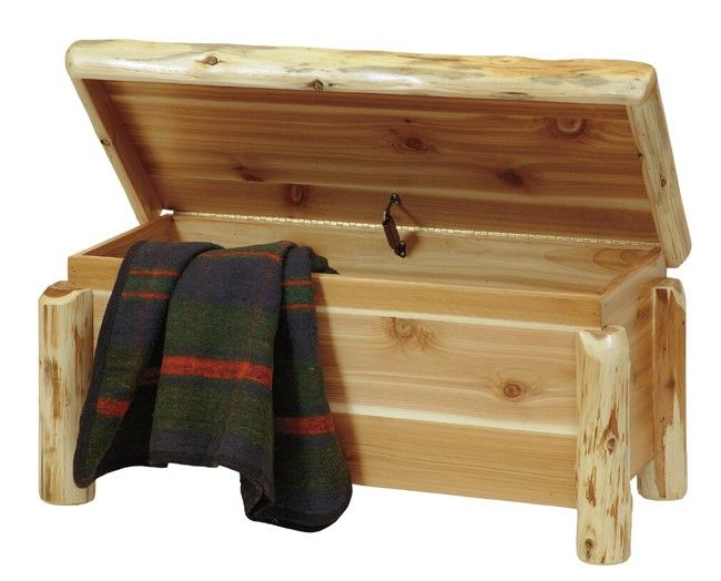 Western Bedroom Tank Toy Box Or: Log Blanket Chest...or Toy Chest.