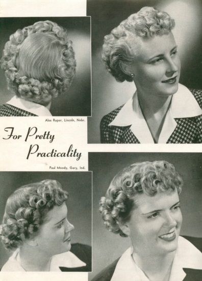 1940s Hairstyles History Of Women S Hairstyles 1940s Hairstyles Short Hair Styles Vintage Short Hair