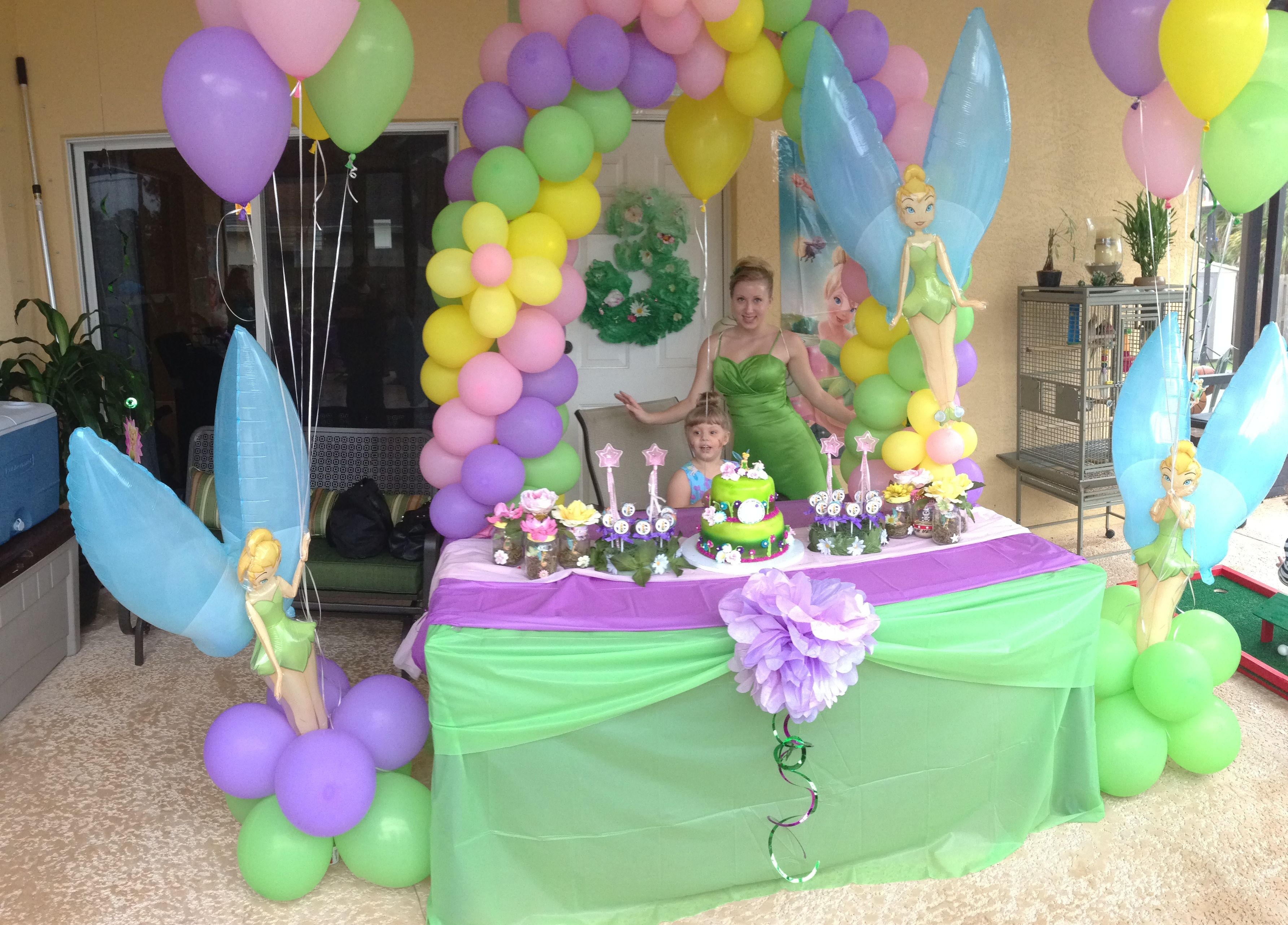 Tinkerbell party  Tinkerbell party, Fairy birthday party